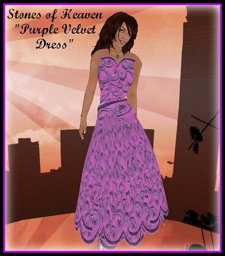 Fashion Expo - Purple Velvet Dress