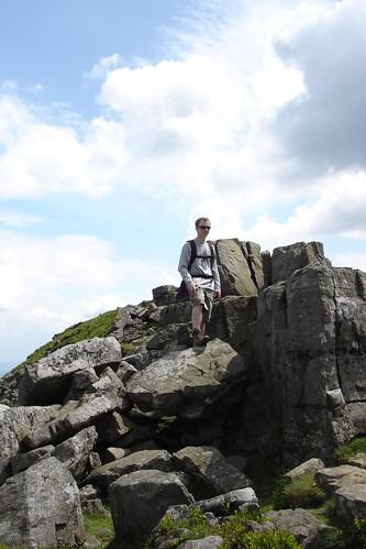 Bob on a rock