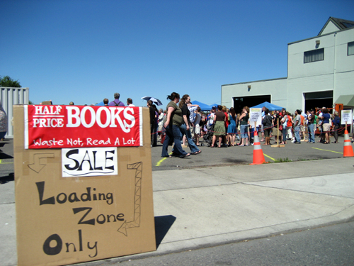 Book sale line