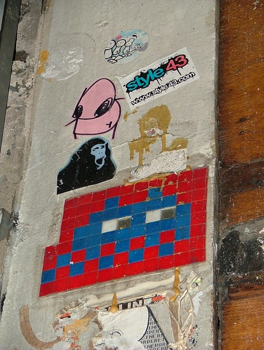 Space Invader 2 - Red Light District, Amsterdam, Netherlands