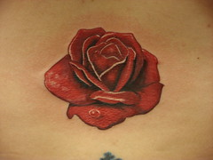 Lower Back Rose Tattoos