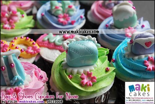 Bag & Shoes Cupcakes for Novie_ - Maki Cakes