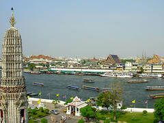 Wat Arun view of 'old' Bangkok