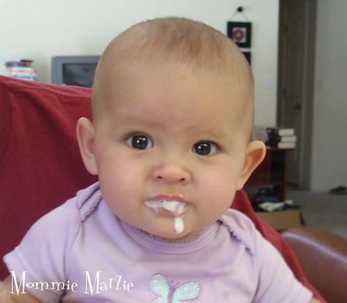 Sophie eating cereal 1