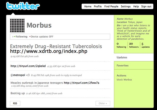 Morbus (Flu Tracking)