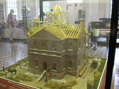 Model of Carpenter's Hall under construction