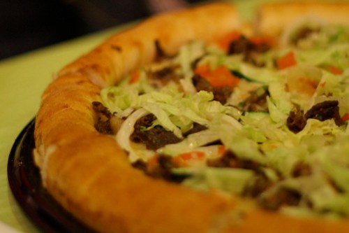 Grilled Beef Shawarma Overloaded Pizza by Greenwich