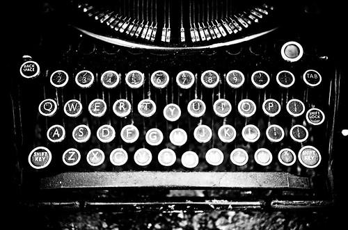Typewriter B/W....now write the story.