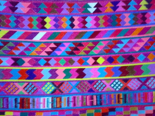 Mayan weaving in San Lorenzo Zinacantan