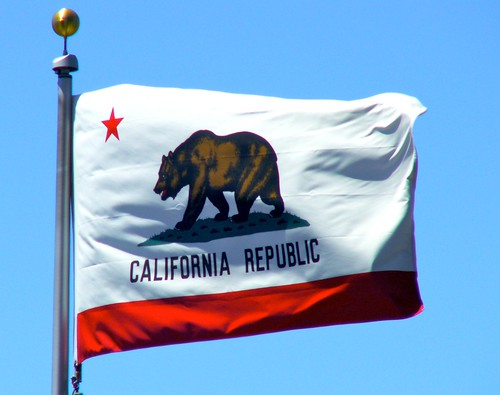 California state flag (enhanced)