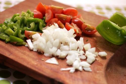 chopped fresh veggies