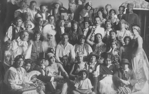 Purim Party at Ludwig Satz's House in Sea Gate, Brooklyn, ca. 1925