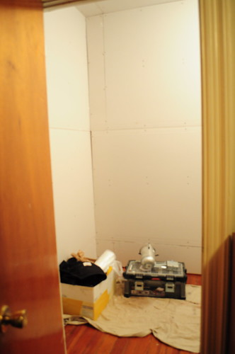 early stages of the new bedroom closet