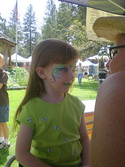 Aine Getting Face Paint at the Fair