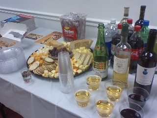 This delectable spread magically disappeared by the end of our discussion / photo taken by Rachel Mauro
