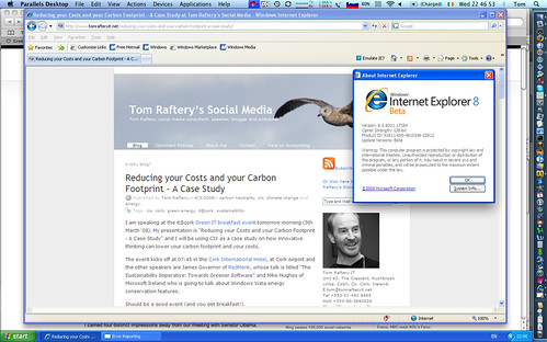 Internet Explorer 8 Beta on Mac