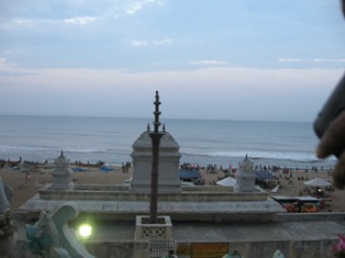 sea from Ashtalakshmi temple