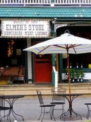 Outdoor dining on Main Street at Elmer's