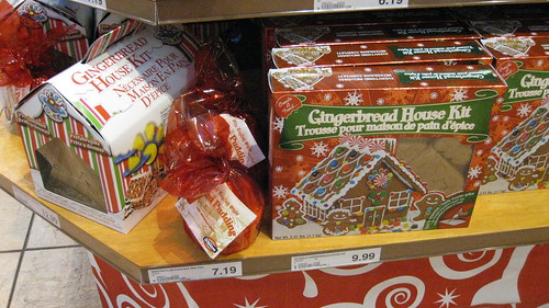 Gingerbread house kits at my local grocery store.