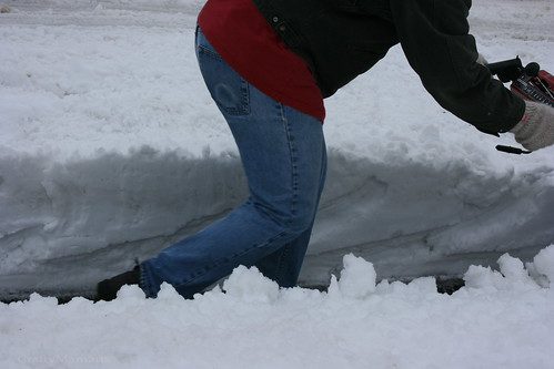 A good two feet in the gutters