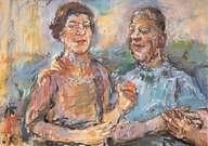 Oskar Kokoschka. Autorretrato con Olda. 1963.