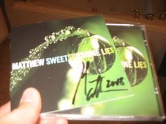 Signed copy of Matthew Sweet's Sunshine Lies