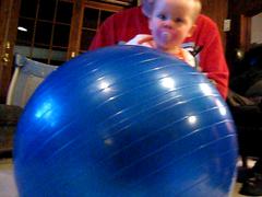Baby Emma, meet balance-ball-thing.  Burp.