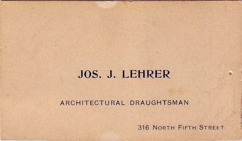 Grandfather Lehrer's Card