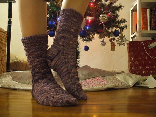 Purple Monkey Socks