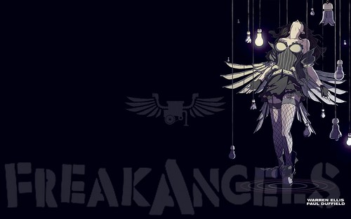 poster for Warren Ellis' comic Freakangels