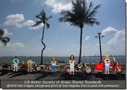 DB Motor Society at Miami Shores Boardwalk  ©2008 New Codgers