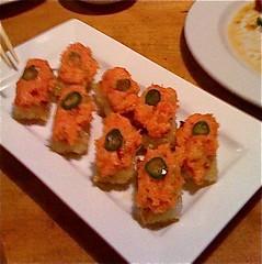 Spicy Tuna with Crispy Rice at Katsu-ya