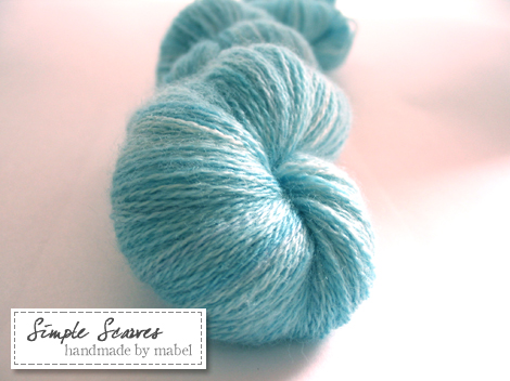 Merino/Cashmere/Silk laceweight in Morning Skies