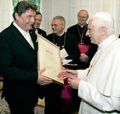Fritz Schramma beim Papst