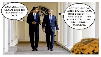 Obama visits the White House