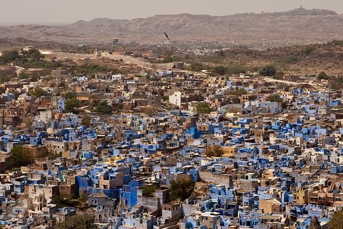 Panoramica de la ciudad azul
