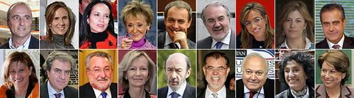 ministros Ejecutivo Zapatero (PSOE) 2008