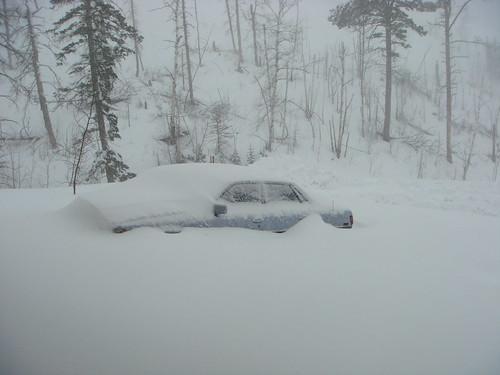 My poor, buried car!