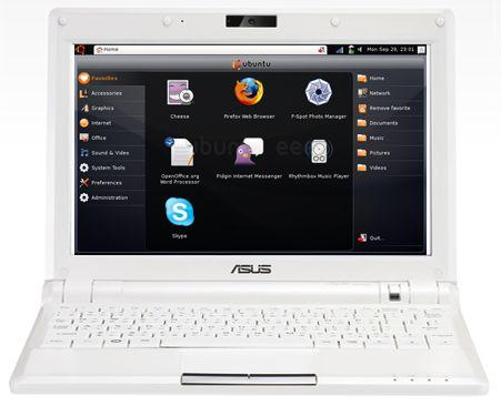 Ubuntu Eee pada ASUS Eee PC