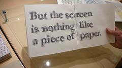 Evelin Kasikov - Printed Matter - Embroidered pixelated font on Tim's flickr
