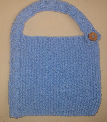 Modern cable baby bib