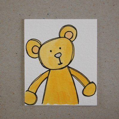 teddy optimism - mini painting