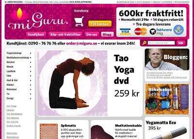 Miguru.se - butiken för allt inom yoga och meditation