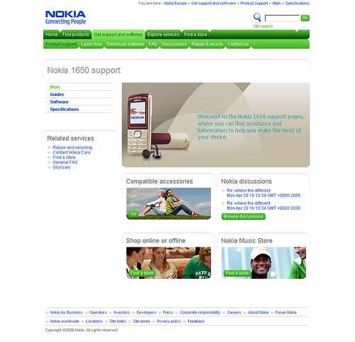 Nokia Europe Support - Home Page