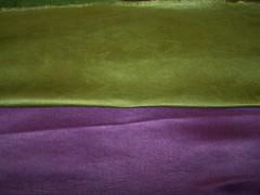 Procion/soda ash dyed satin