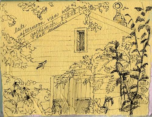 back yard sketch