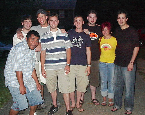 Picture of Matt with his friends from 2006