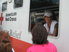 Miss USA Volunteers with the Red Cross 9.22.08