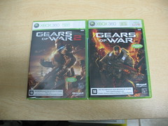 Brazilian Gears of War and Gears of War 2 box art