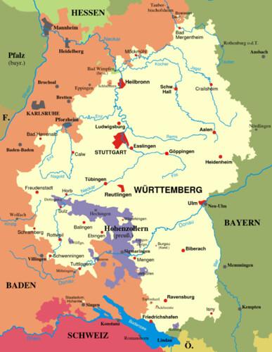 Map Wuerttemberg